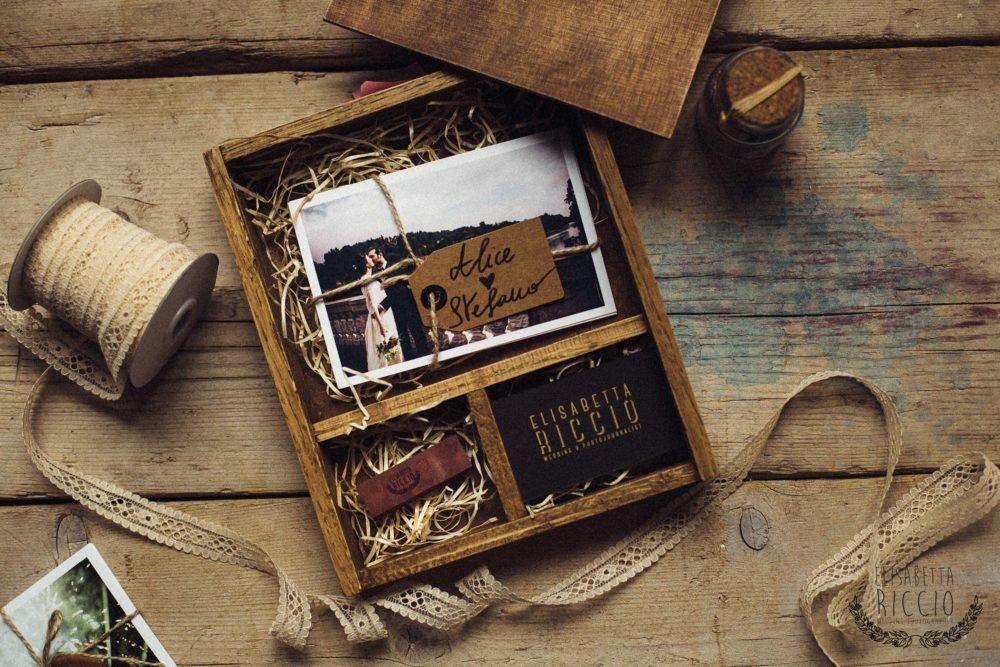 wooden box - home made wedding box - fine art print - usb