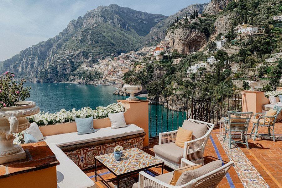 A wedding in Positano, Italy. Hotel Tre Ville